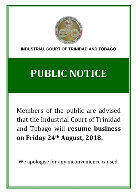 Public Notice Open for business 24.08.18